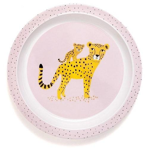 Kinderteller Leopard Rosa