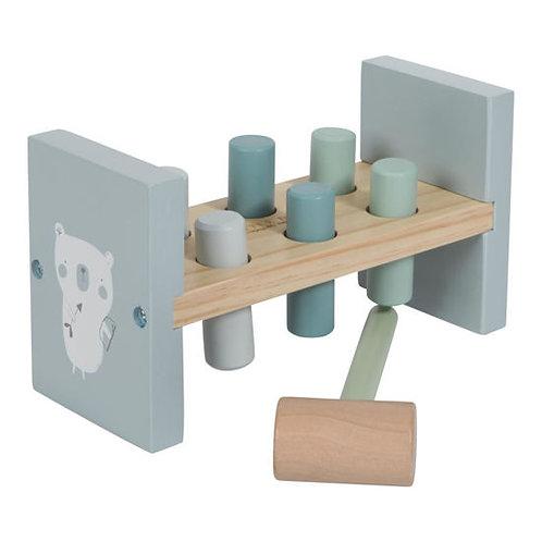 Little Dutch Hammerspiel, Hammerspiel personalisiert, Geschenk aus Holz,Little Dutch personalisiert,Little Dutch kaufen, blau