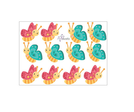Stickerbogen Schmetterling 4