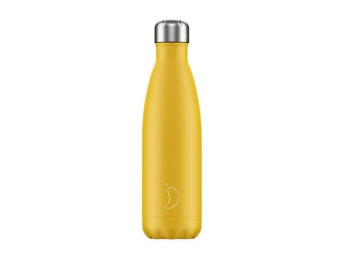 Chilly's 500ml Trinkflasche Matt Gelb