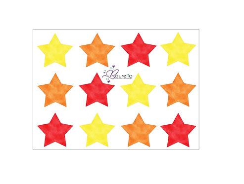 Stickerbogen Stern 13