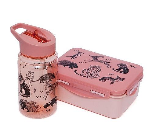 Znünibox und Trinkflasche, Znünibox Kinder, Trinkflasche Kinder, personalisiert, kaufen, günstig, leicht, rosa