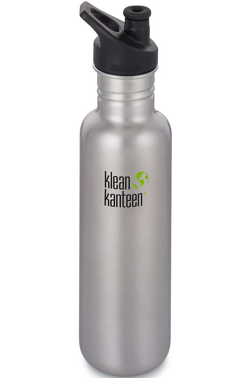 Klean Kanteen Classic Sport 800ml Brushed Stainless - Silber