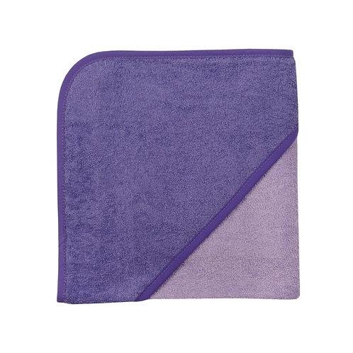 Kapuzen Badetuch Violett