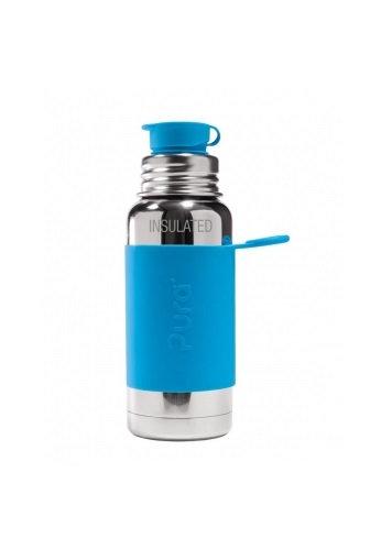 Pura Sport Isolierflasche 475ml Blau