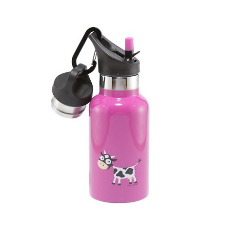 Carl Oscar Tempflask, Carl Oscar personalisiert, Thermotrinkflasche Kinder, Trinkflasche Kinder, pink, Thermo