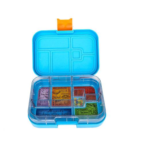 Munchbox mit 6 Unterteilungen Hellblau