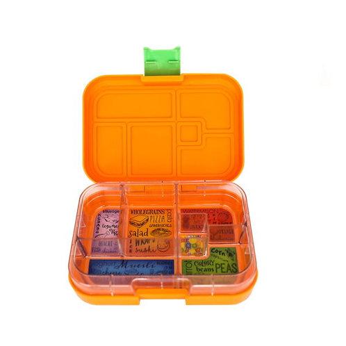 Munchbox mit 6 Unterteilungen Orange