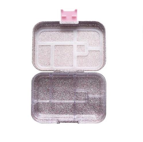 Munchbox Glitzer Rosa mit 6 Unterteilungen