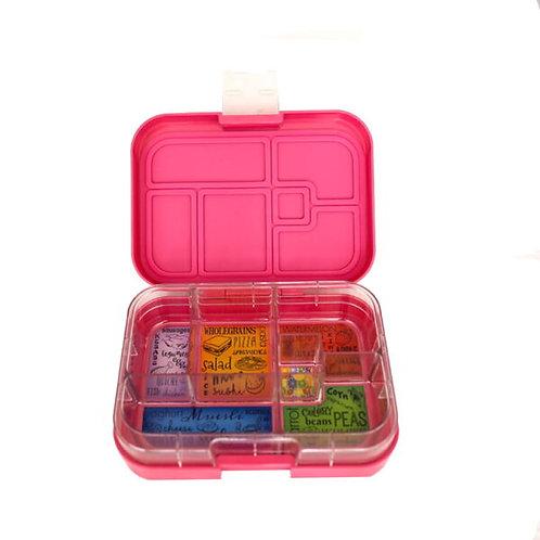 Munchbox mit 6 Unterteilungen Pink