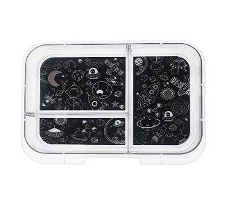Munchbox Inlay mit 3 Unterteilungen Schwarz