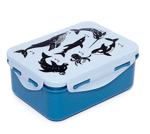 Petit Money Lunchbox Zoo Blau