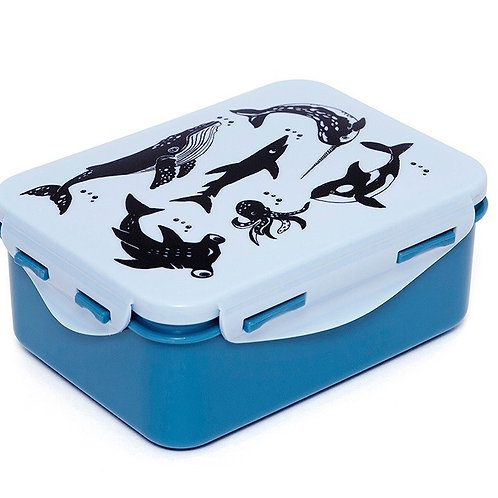 Petit Monkey Lunchbox Zoo Blau