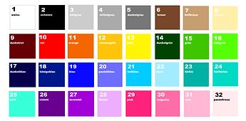 Farben Beschriftung Baurelia