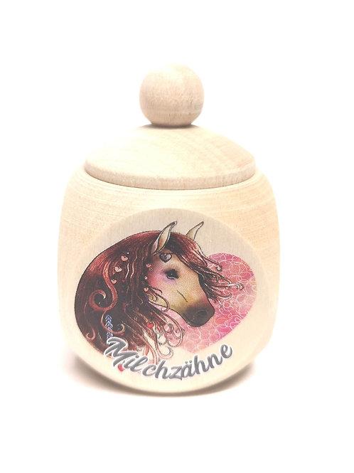 Milchzahndose Pferd, Milchzahndose kaufen, Milchzahndose personalisiert, Milchzahndose