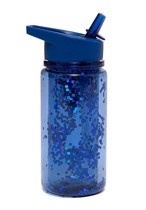 Petit Monkey Trinkflasche Glitzer Blau