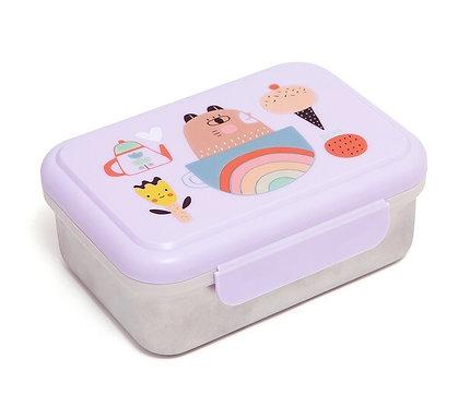 Znünibox Edelstahl, Znünibox leicht, Edelstahl Lunchbox, personalisiert, Lunchbox kaufen, leicht, billig,lila