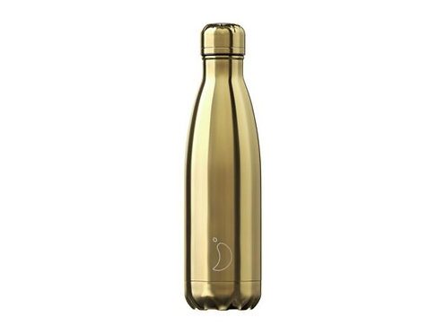 Chilly's 500ml Trinkflasche Chrome Gold