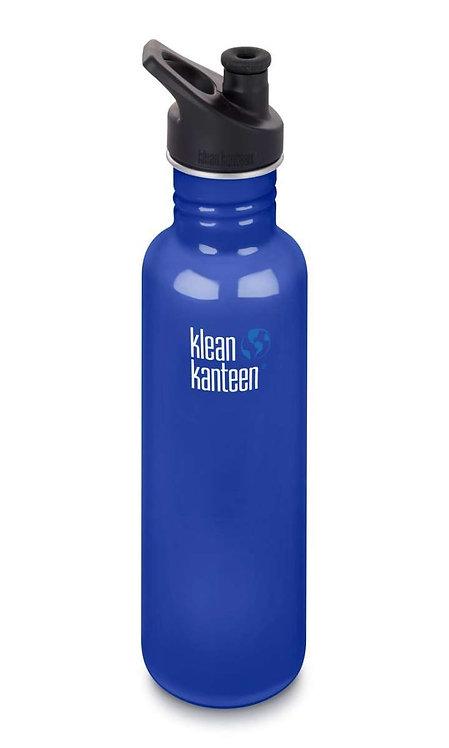 Klean Kanteen Classic Sport 800ml Mineral Coastal Waters - Blau