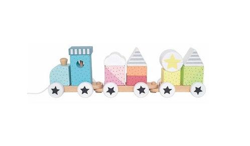 JABADABADO Eisenbahn mit Bausteinen Color