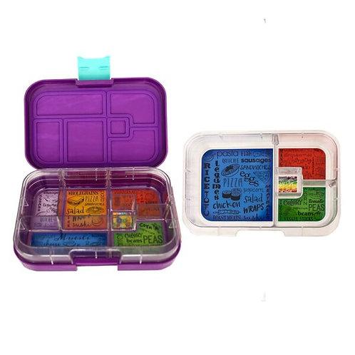 Munchbox Set Violett mit 4 & 6 Unterteilungen