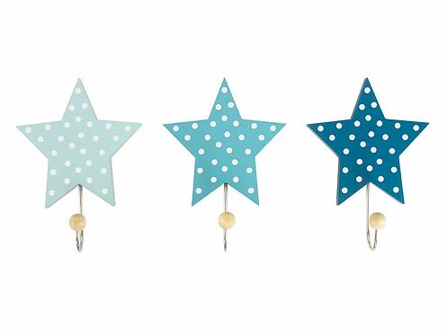 JABADABADO Wandhaken Sterne Blau