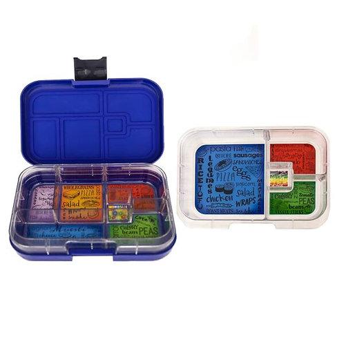 Munchbox Set Dunkelblau mit 4 & 6 Unterteilungen