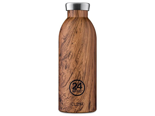 24Bottles Thermosflasche Clima 500 ml Wood