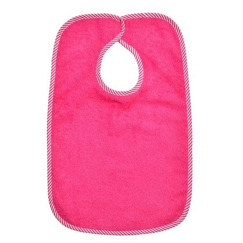 Lätzli mit Klettverschluss Pink