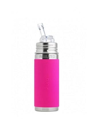 Pura Trinkhalm Isolierflasche 260ml Pink