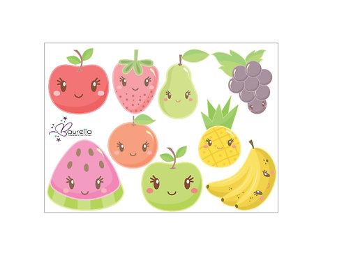 Stickerbogen Früchte 3