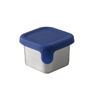 PlanetBox Rover Little Square Dipper mit Silikondeckel Navy
