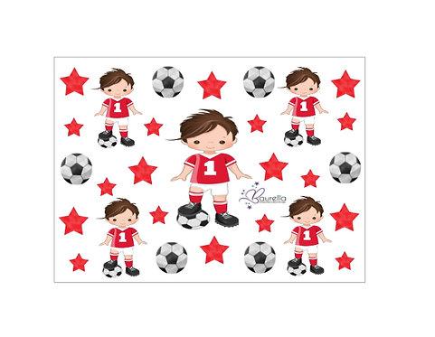 Stickerbogen Fussball 2