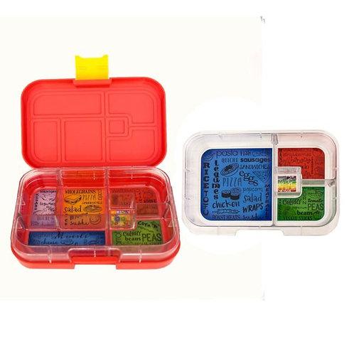 Munchbox Set Rot mit 4 & 6 Unterteilungen
