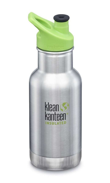 Klean Kanteen 12oz Kid Thermotrinkflasche 355ml Brushed Stainless - Silber
