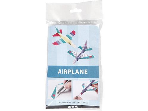 Bastelset Flugzeug 3 Stück