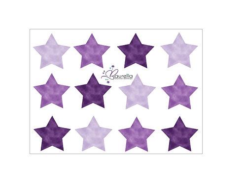 Stickerbogen Stern 10