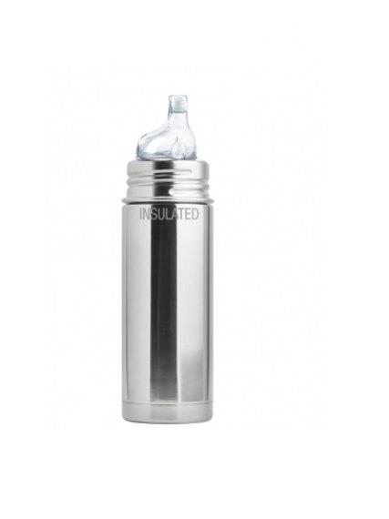 Pura Trinklern Isolierflasche 260ml Silber ohne Überzug