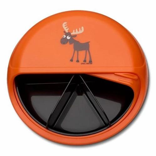 Snackdisc orange, Snackdisc Carl Oscar, Carl Oscar personalisiert, Znünibox orange, Znünibox kaufen, Elch,