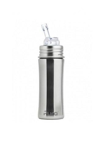 Pura Trinkhalmflasche 325ml Silber ohne Überzug