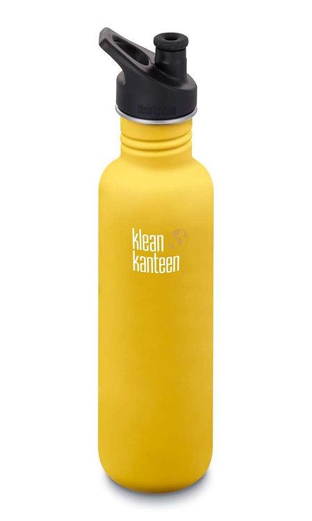 Klean Kanteen Classic Sport 800ml Lemon Curry - Gelb