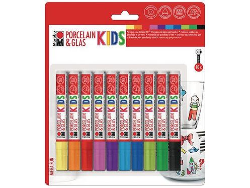 Marabu Porzellan - und Glasmalstift KIDS