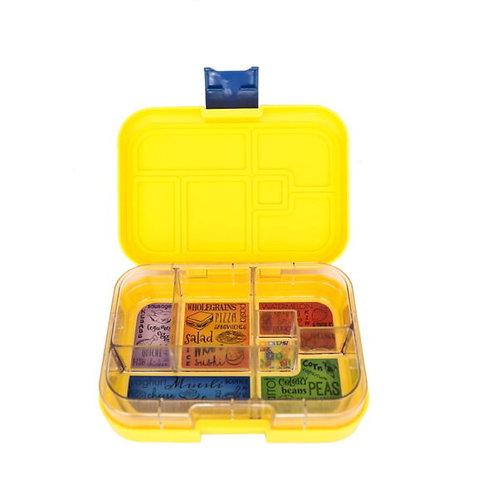 Munchbox mit 6 Unterteilungen Gelb