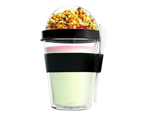 Asobu Yoghurt-/Müslibecher 360ml Schwarz