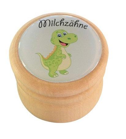 Milchzahndose Dino, Milchzahndose kaufen, Milchzahndose personalisiert, Milchzahndose