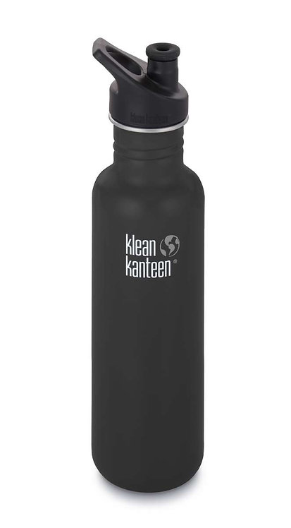 Klean Kanteen Classic Sport 800ml Shale Black - Schwarz
