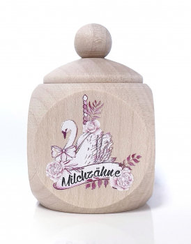 Milchzahndose Schwan, pink, Milchzahndose kaufen, Milchzahndose personalisiert, Milchzahndose Holz