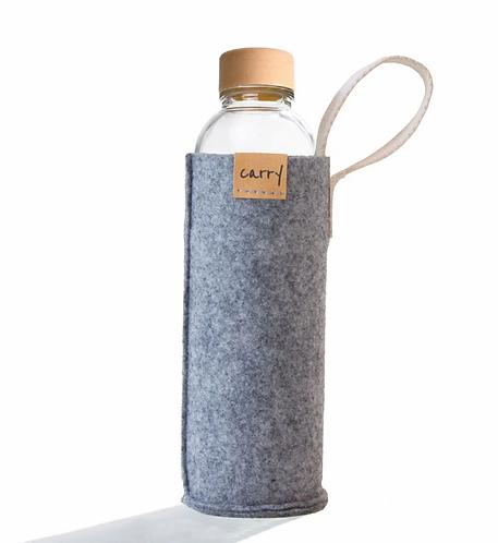 Carrybottle Filztasche Grau
