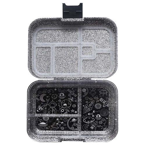 Munchbox Glitzer Schwarz mit 3 Unterteilungen