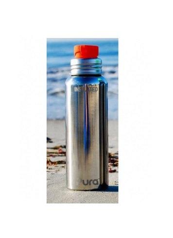 Pura Sport Isolierflasche 650ml Silber ohne Überzug